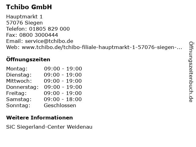 Tchibo GmbH in Siegen: Adresse und Öffnungszeiten