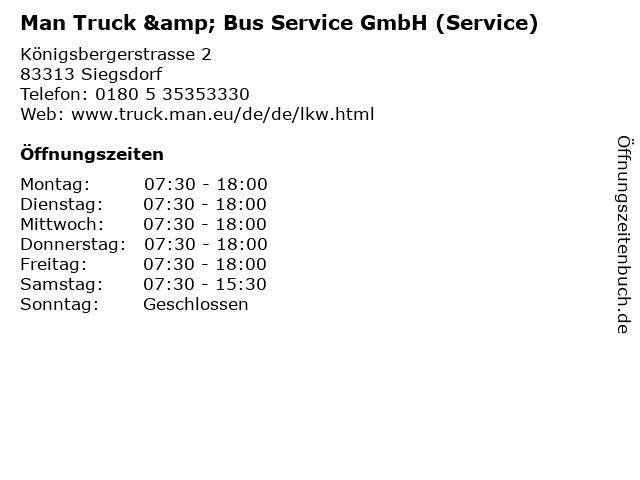 Man Truck & Bus Service GmbH (Service) in Siegsdorf: Adresse und Öffnungszeiten