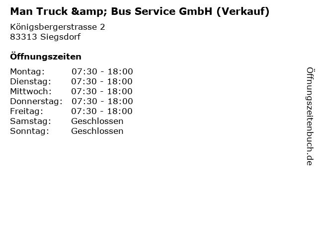 Man Truck & Bus Service GmbH (Verkauf) in Siegsdorf: Adresse und Öffnungszeiten