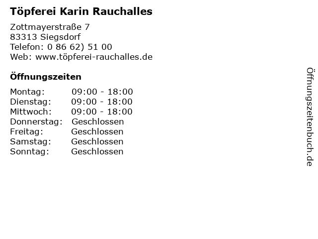 Töpferei Karin Rauchalles in Siegsdorf: Adresse und Öffnungszeiten