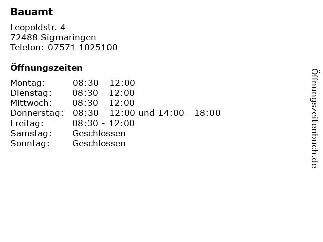 Bauamt in Sigmaringen: Adresse und Öffnungszeiten
