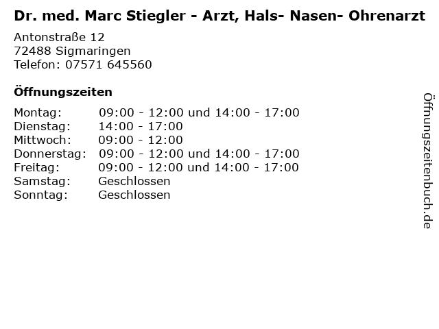 Dr Stiegler Sigmaringen