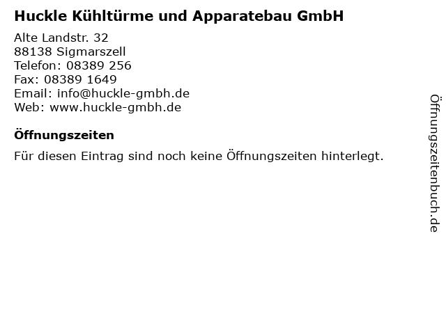 Huckle Kühltürme und Apparatebau GmbH in Sigmarszell: Adresse und Öffnungszeiten
