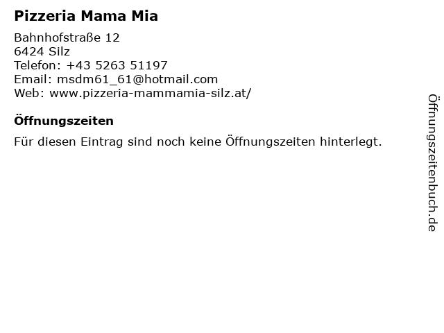 Pizzeria Mama Mia in Silz: Adresse und Öffnungszeiten