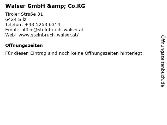 Walser GmbH & Co.KG in Silz: Adresse und Öffnungszeiten