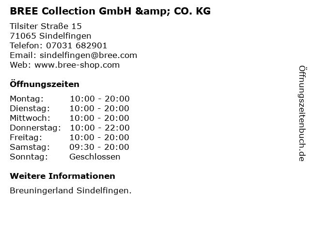 BREE Collection GmbH & CO. KG in Sindelfingen: Adresse und Öffnungszeiten