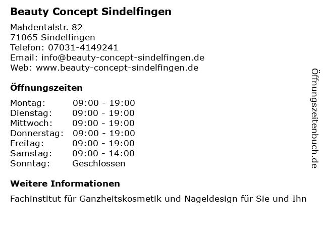 Beauty Concept Sindelfingen in Sindelfingen: Adresse und Öffnungszeiten