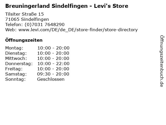 Breuningerland Sindelfingen - Levi's Store in Sindelfingen: Adresse und Öffnungszeiten