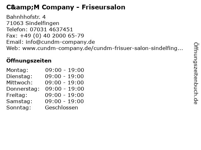 C&M Company - Friseursalon in Sindelfingen: Adresse und Öffnungszeiten