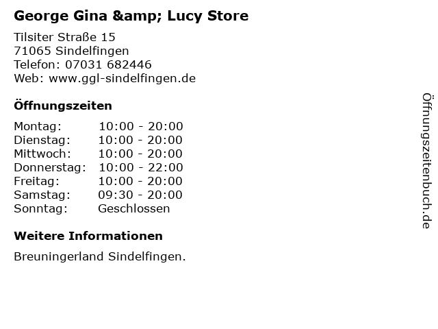 George Gina & Lucy Store in Sindelfingen: Adresse und Öffnungszeiten