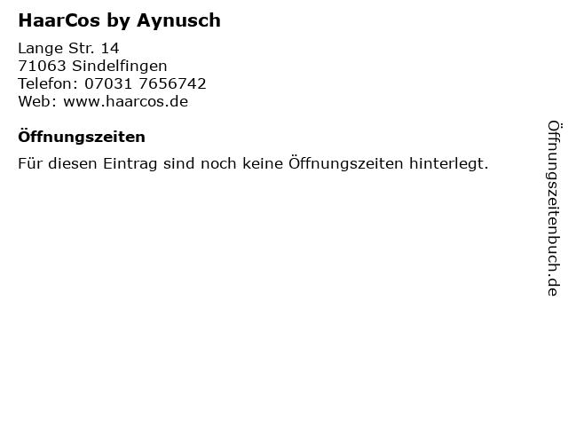 HaarCos by Aynusch in Sindelfingen: Adresse und Öffnungszeiten