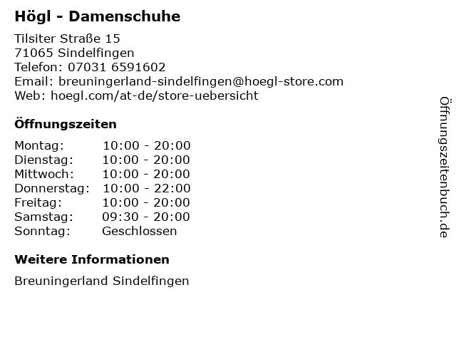 Högl in Sindelfingen: Adresse und Öffnungszeiten