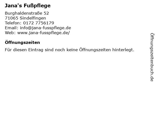 Jana's Fußpflege in Sindelfingen: Adresse und Öffnungszeiten