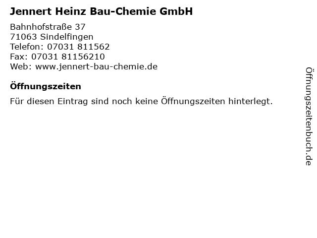 Jennert Heinz Bau-Chemie GmbH in Sindelfingen: Adresse und Öffnungszeiten