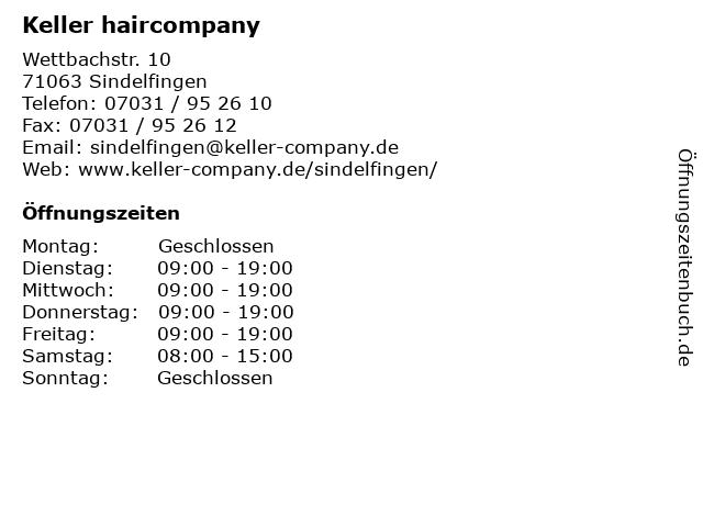 Keller haircompany in Sindelfingen: Adresse und Öffnungszeiten