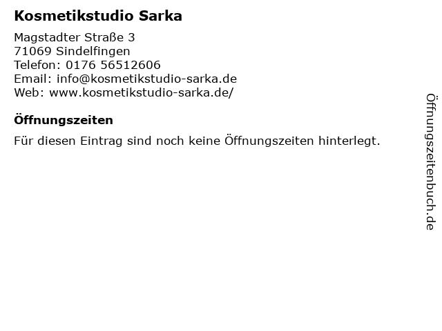 Kosmetikstudio Sarka in Sindelfingen: Adresse und Öffnungszeiten
