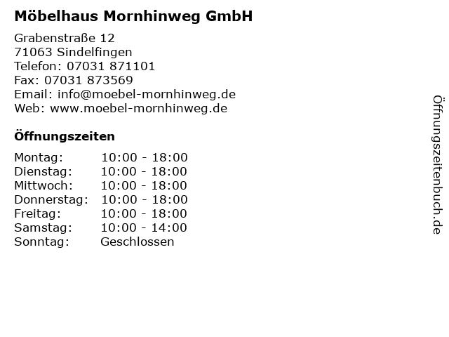 ᐅ öffnungszeiten Möbelhaus Mornhinweg Grabenstraße 12 In