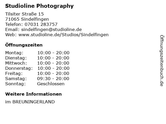 Studioline Photography in Sindelfingen: Adresse und Öffnungszeiten