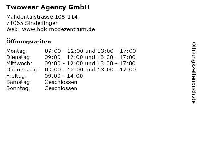 Twowear Agency GmbH in Sindelfingen: Adresse und Öffnungszeiten
