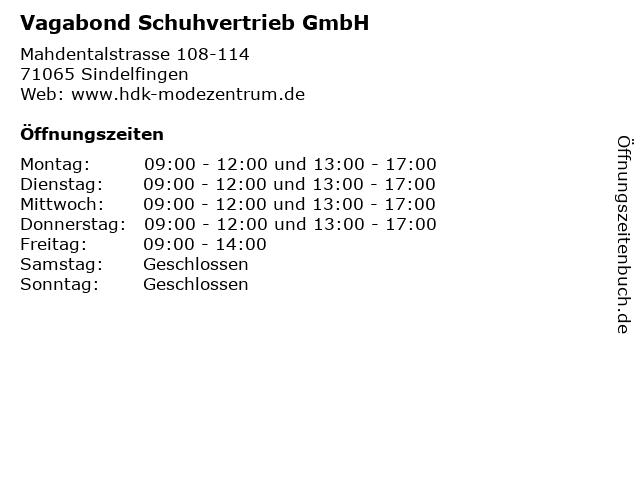 Vagabond Schuhvertrieb GmbH in Sindelfingen: Adresse und Öffnungszeiten