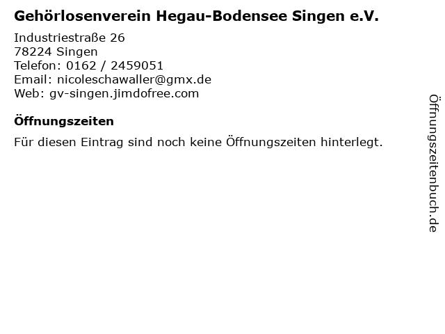 Gehörlosenverein Hegau-Bodensee Singen e.V. in Singen: Adresse und Öffnungszeiten