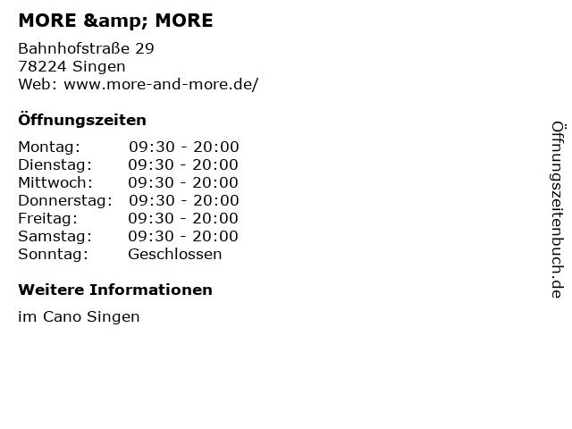 MORE & MORE in Singen: Adresse und Öffnungszeiten