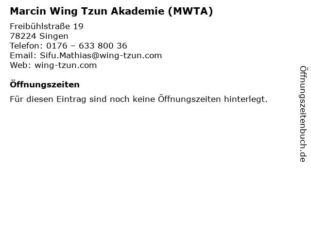 Marcin Wing Tzun Akademie (MWTA) in Singen: Adresse und Öffnungszeiten