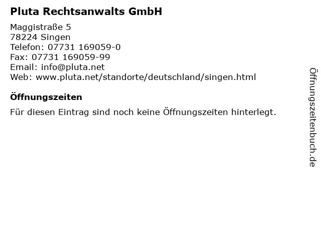 Pluta Rechtsanwalts GmbH in Singen: Adresse und Öffnungszeiten