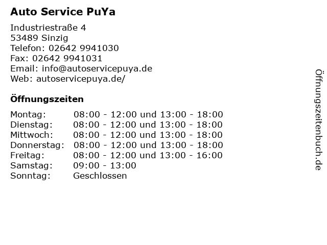 Auto Service PuYa in Sinzig: Adresse und Öffnungszeiten
