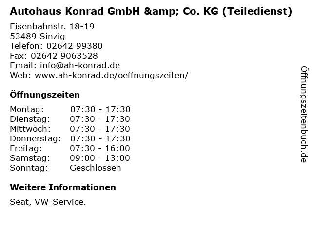 Autohaus Konrad GmbH & Co. KG (Teiledienst) in Sinzig: Adresse und Öffnungszeiten