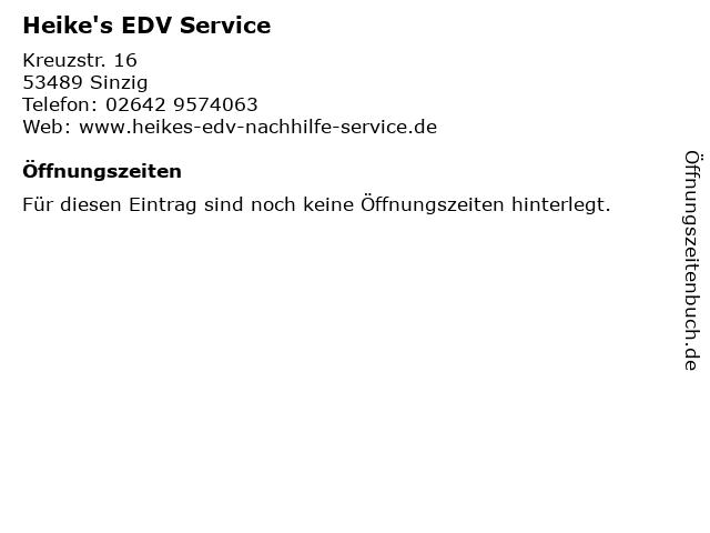 Heike's EDV Service in Sinzig: Adresse und Öffnungszeiten
