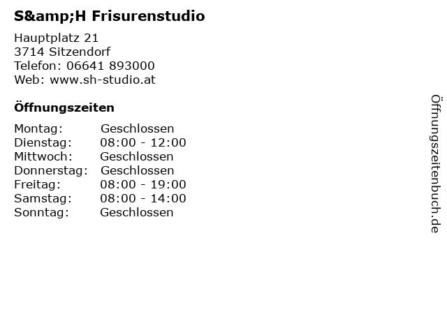 S&H Frisurenstudio in Sitzendorf: Adresse und Öffnungszeiten