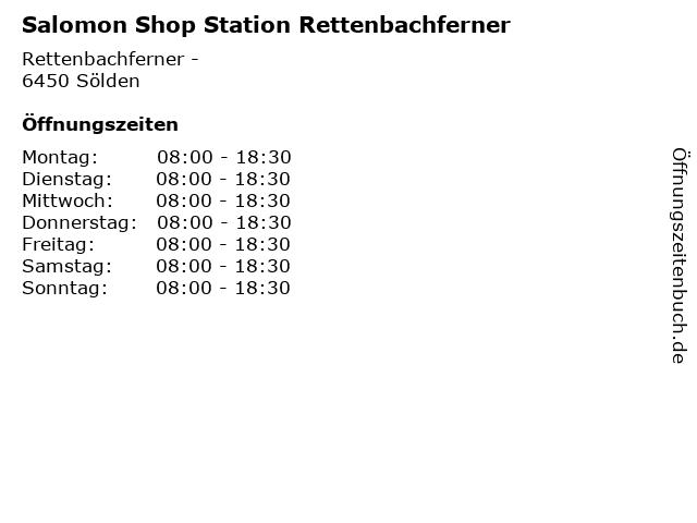 Salomon Shop Station Rettenbachferner in Sölden: Adresse und Öffnungszeiten