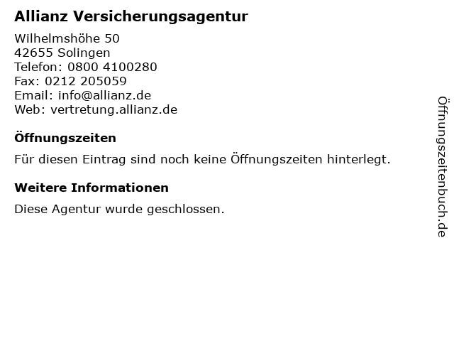 Allianz Generalvertretung Michael Sternkopf e.K. in Solingen: Adresse und Öffnungszeiten
