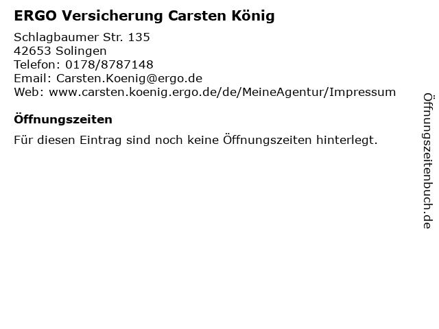 ERGO Versicherung Carsten König in Solingen: Adresse und Öffnungszeiten