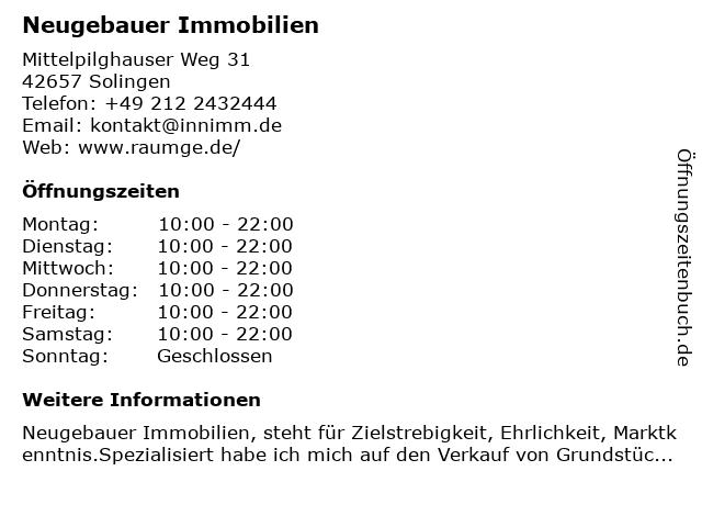 Inn Design Neugebauer Showroom in Solingen: Adresse und Öffnungszeiten
