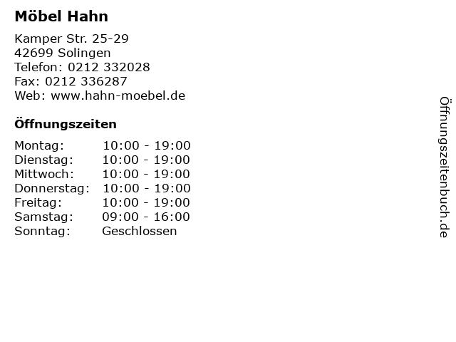eb695f0e609a4c Bilder zu Möbel Hahn in Solingen