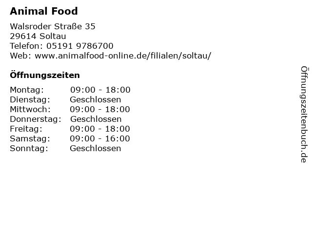 Animal Food in Soltau: Adresse und Öffnungszeiten