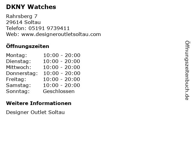 DKNY Watches in Soltau: Adresse und Öffnungszeiten