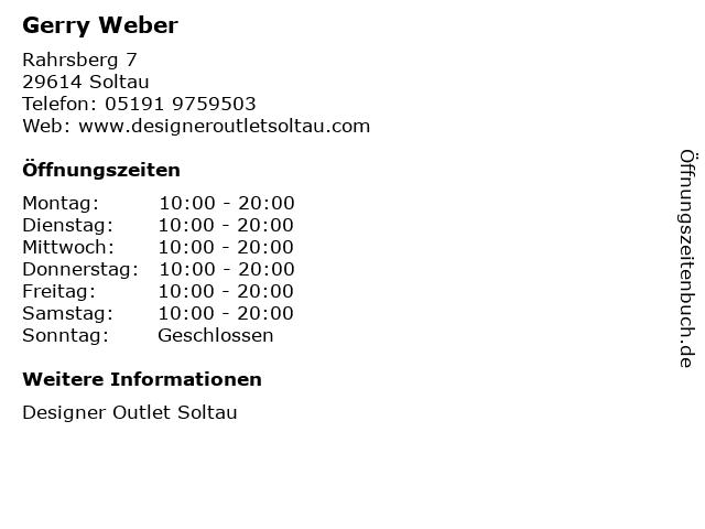 Gerry Weber in Soltau: Adresse und Öffnungszeiten