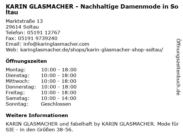 Collection Karin Glasmacher Shop in Soltau: Adresse und Öffnungszeiten