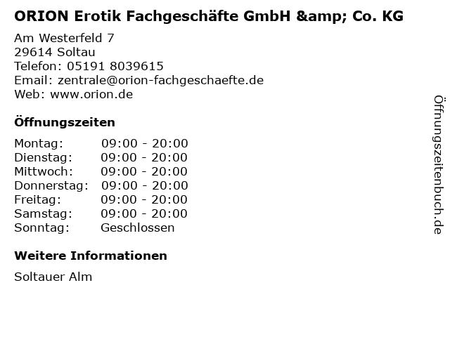 ORION Erotik Fachgeschäfte GmbH & Co. KG in Soltau: Adresse und Öffnungszeiten