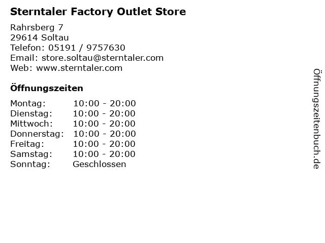 Sterntaler Factory Outlet Store in Soltau: Adresse und Öffnungszeiten