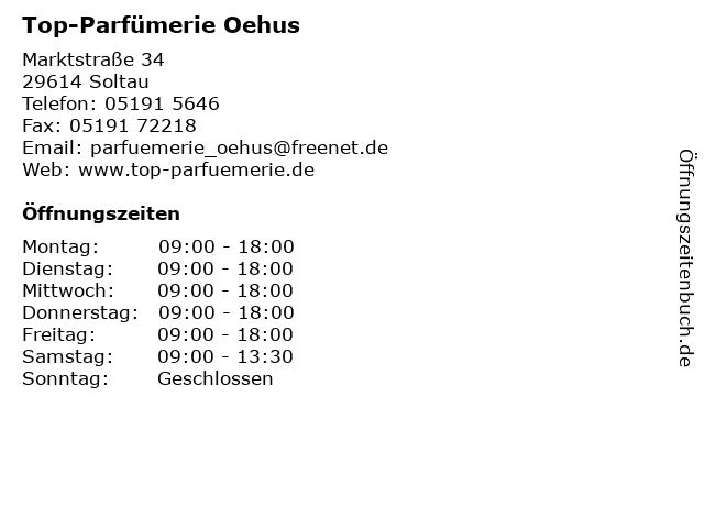 Top-Parfümerie Oehus in Soltau: Adresse und Öffnungszeiten