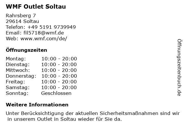 WMF Outlet Soltau in Soltau: Adresse und Öffnungszeiten
