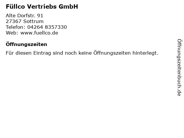 Füllco Vertriebs GmbH in Sottrum: Adresse und Öffnungszeiten