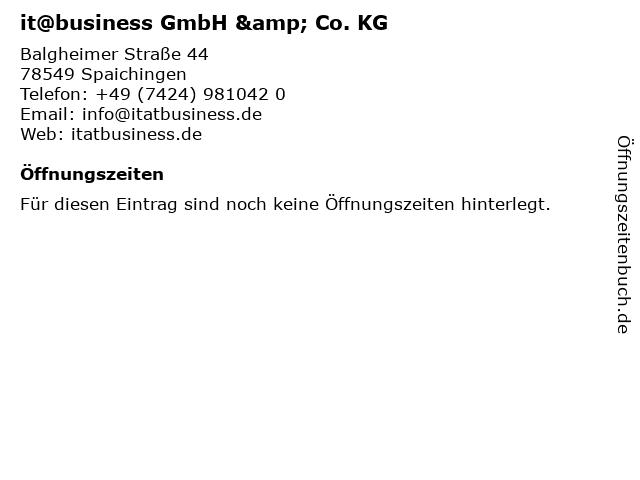 it@business GmbH & Co. KG in Spaichingen: Adresse und Öffnungszeiten