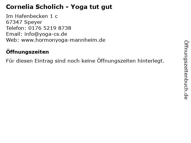 Cornelia Scholich - Yoga tut gut in Speyer: Adresse und Öffnungszeiten