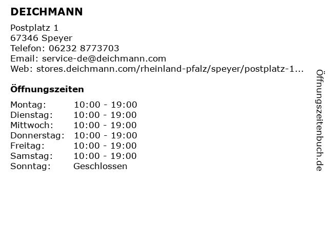 DEICHMANN in Speyer: Adresse und Öffnungszeiten