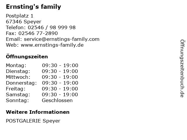 Ernsting's family GmbH & Co. KG in Speyer: Adresse und Öffnungszeiten